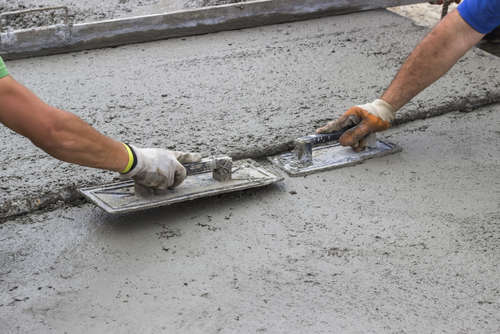 Finishing concrete slab